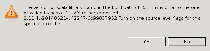 The error message on seeing a previous classpath.